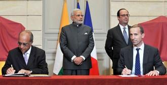 L&T社とアレバ社首脳による覚書調印©インド首相府