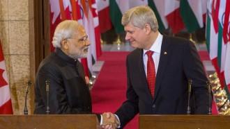 印加両国首相は両国間で16もの商業契約が結ばれたことを歓迎©カナダ首相府