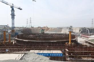 最初のコンクリート打設に向けて準備が進む福清5建設サイト©CNNC