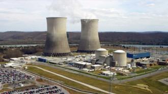 今年2月現在のワッツバー原子力発電所©TVA