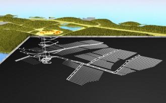 地層処分場の概念図©ポシバ社
