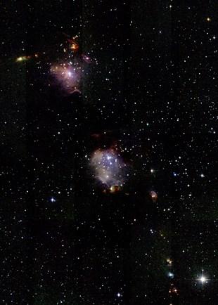 中央がM78星雲
