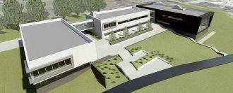 原子力分野の新しい国立大学の完成予想図©ブリッジウォーター大学