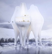 建築物の設計候補に残った6点のうちの1点©FaulknerBrowns Archtects