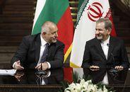 イランのジャハーンギーリー第1副大統領と会談するブルガリアのボリソフ首相(=左)©ブルガリア政府