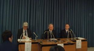 Pres. Matsuura (center)