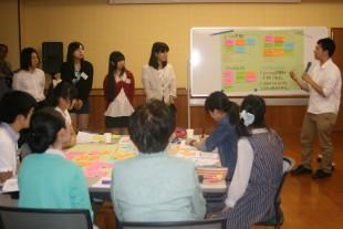 A group making a presentation.