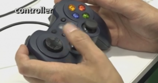 "The robot is controlled by the ""Sony PlayStation""-type controller!"