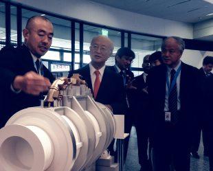 IAEA DG Amano (center) and JAIF Pres. Takahashi