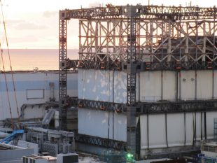 The wall-cover panels were removed. ©TEPCO