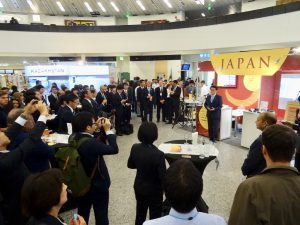 The opening ceremony for Japanese booth